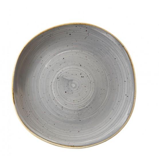 Stonecast Peppercorn Grey Organic Round Plate