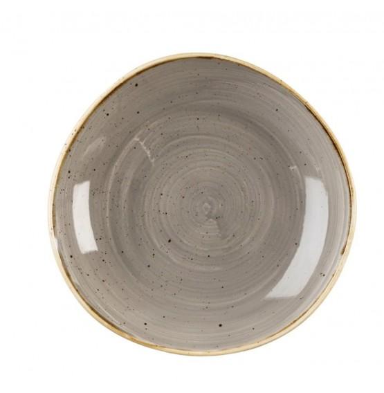 Stonecast Peppercorn Grey Organic Round Bowl