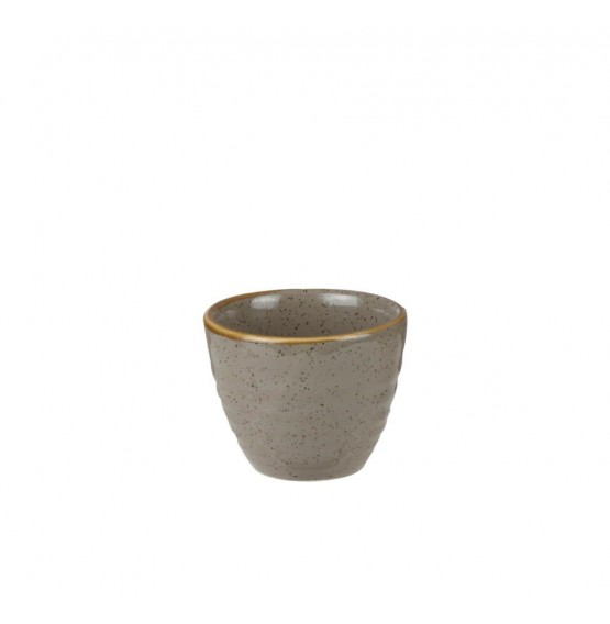 Stonecast Peppercorn Grey Ripple Dip Pot