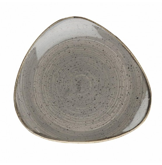 Stonecast Peppercorn Grey Triangle Plate