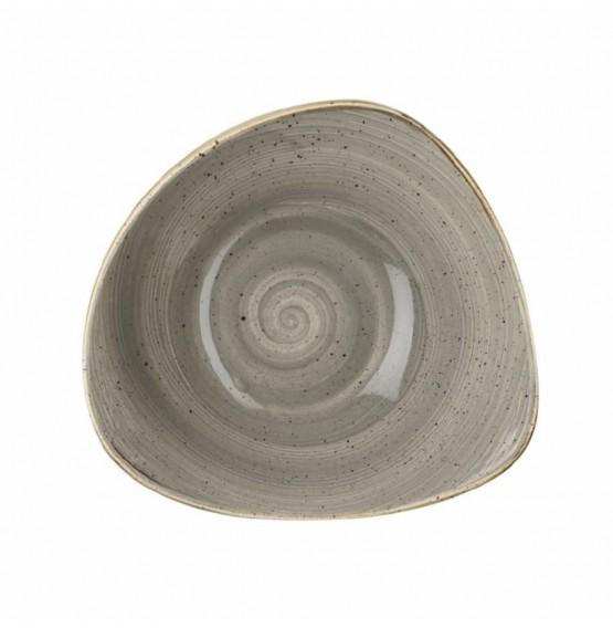 Stonecast Peppercorn Grey Triangle Bowl