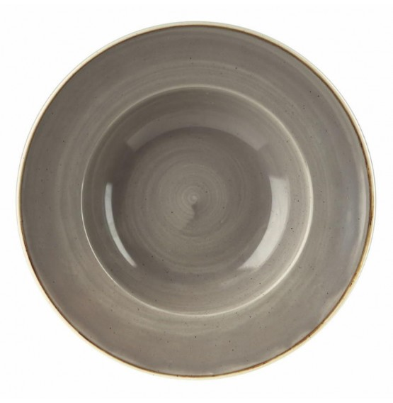 Stonecast Peppercorn Grey Wide Rim Bowl