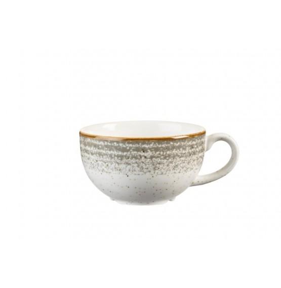 Homespun Stone Grey Cappuccino Cup