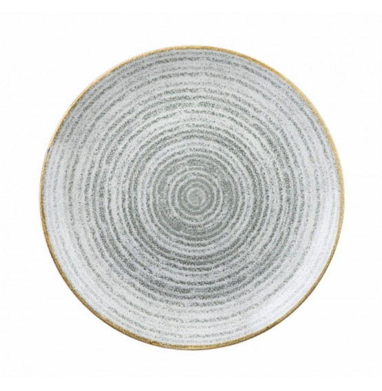 Homespun Stone Grey Coupe Plate