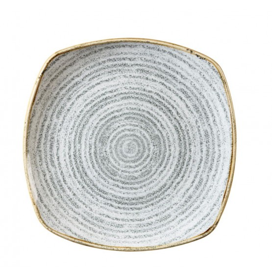 Homespun Stone Grey Square Plate