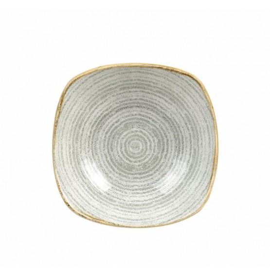 Homespun Stone Grey Square Bowl