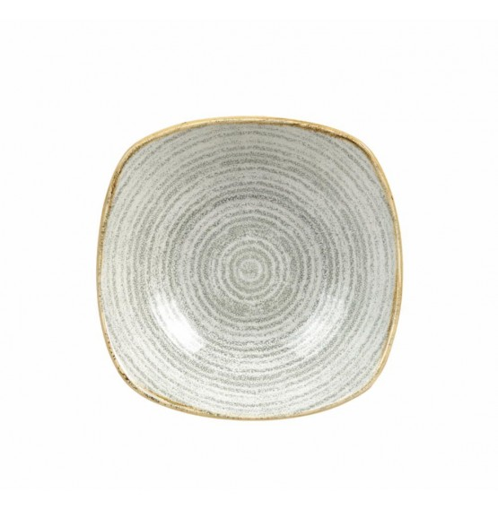 Homespun Stone Grey Square Bowl