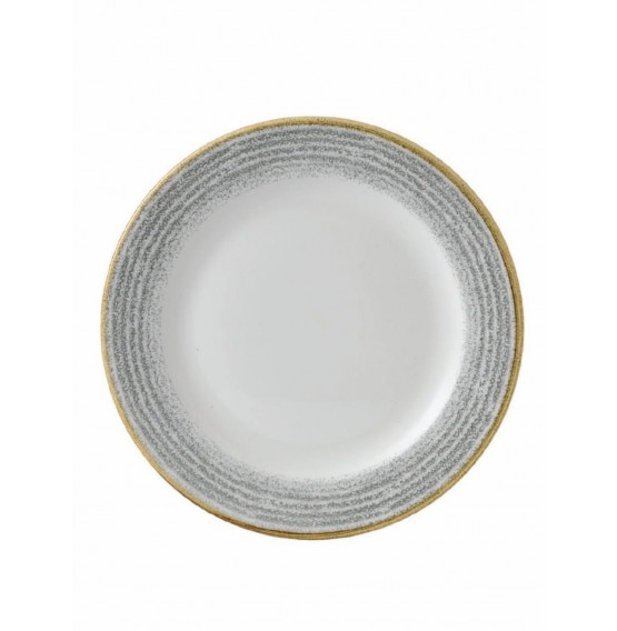 Homespun Stone Grey Rimmed Plate