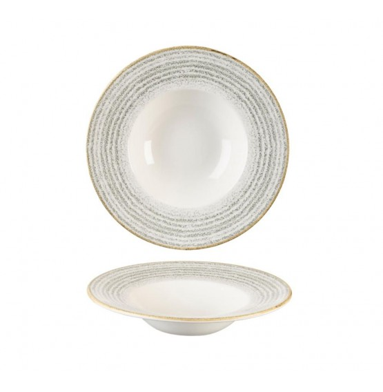 Homespun Stone Grey Wide Rim Bowl