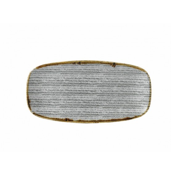 Homespun Stone Grey Chefs' Oblong Plate