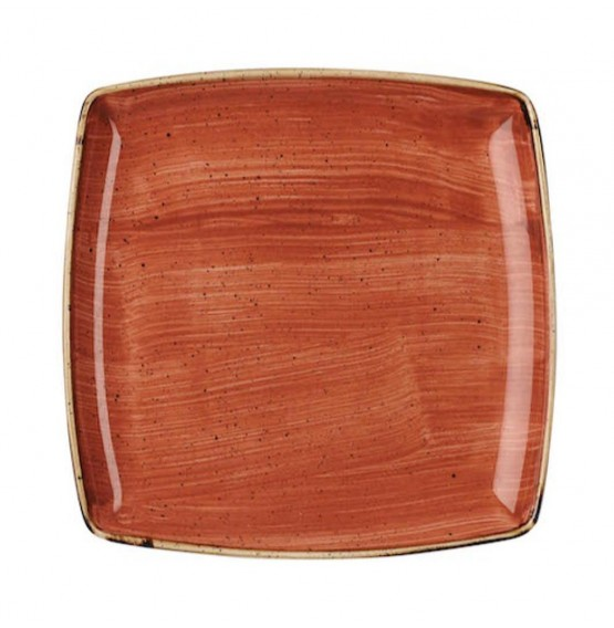 Stonecast Spiced Orange Deep Square Plate