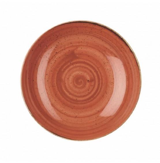 Stonecast Spiced Orange Large Coupe Bowl