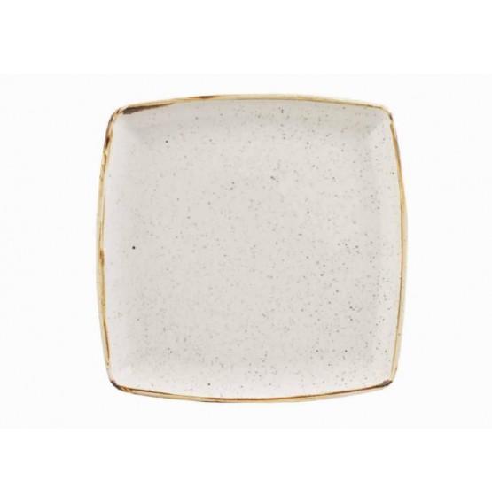 Stonecast Barley White Deep Square Plate