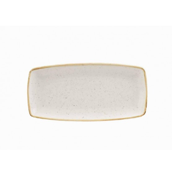 Stonecast Barley White Oblong Plate
