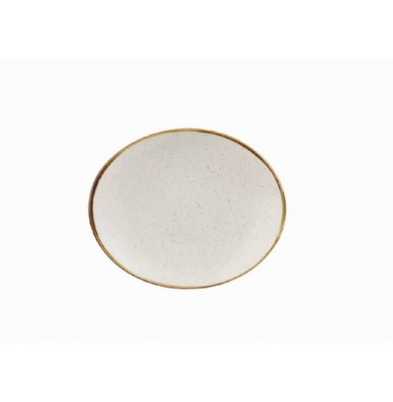 Stonecast Barley White Oval Coupe Plate