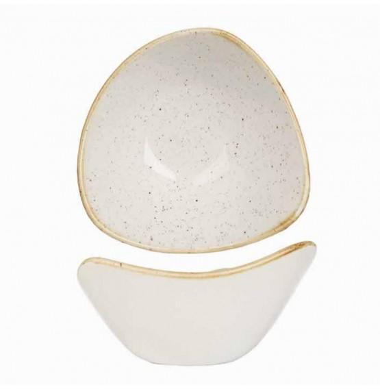 Stonecast Barley White Triangle Bowl