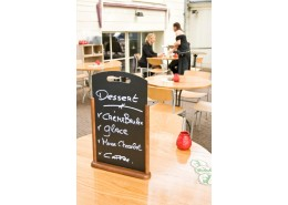 Large Table Chalk Board Dark Wood