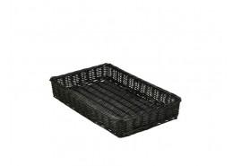 Wicker Display Basket Black