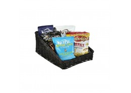 Wicker Display Basket Black
