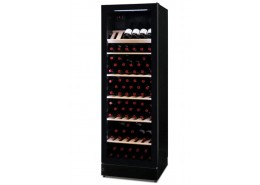 106 Bottle Wine Cooler Black Finish With Frameless Glass Door
