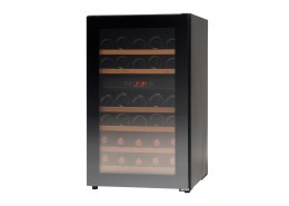 32 Bottle Compact Wine Cabinet Black