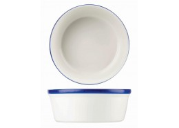 Retro Blue Round Pie Dish