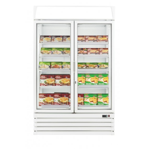 Single Glass Door Upright Display Freezer - Matching Fridge Available