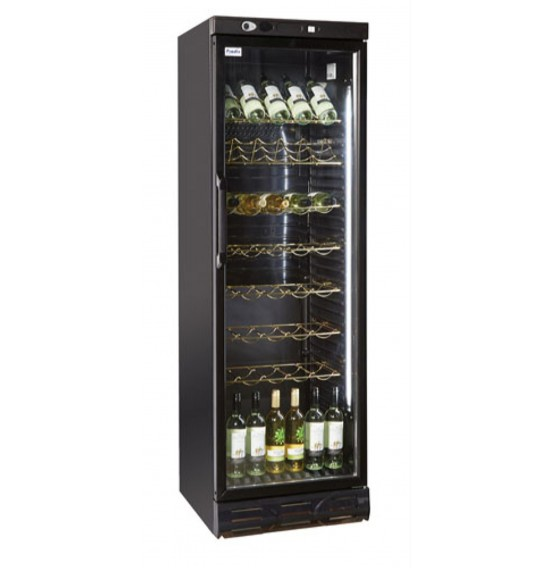 Single Door Upright Wine Cooler Black Finish