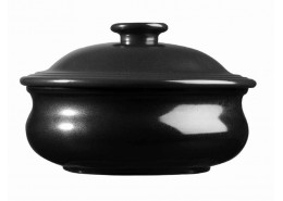 Rustics Simmer Black Lidded Stew Pot