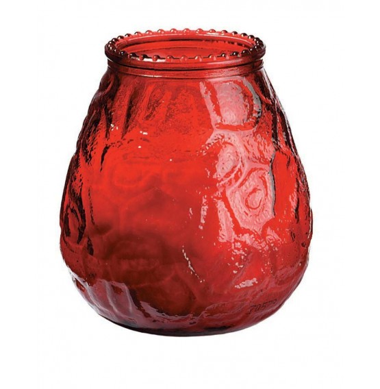 Duni Candle Glasses Venezia Red