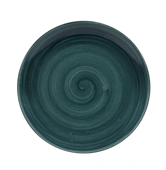 Patina Rustic Teal Coupe Plate