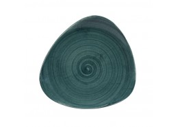 Patina Rustic Teal Triangle Plate
