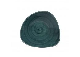Patina Rustic Teal Triangle Bowl