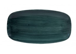 Patina Rustic Teal Chef's Oblong Plate