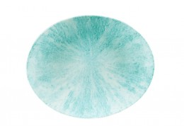 Stone Aquamarine Oval Coupe Plate