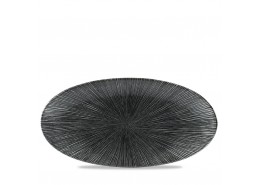 Agano Black Chefs' Oval Plate
