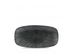 Agano Black Chefs' Oblong Plate No.3