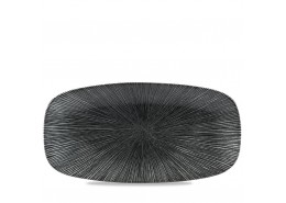 Agano Black Chefs' Oblong Plate No.4