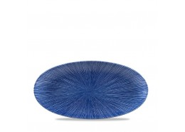 Agano Blue Chefs' Oval Plate
