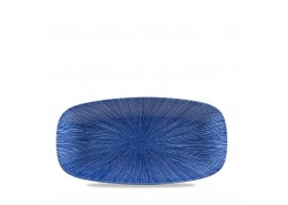 Agano Blue Chefs' Oblong Plate No.3