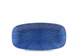 Agano Blue Chefs' Oblong Plate No.4