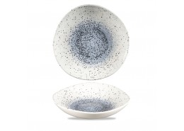 Mineral Blue Organic Round Bowl