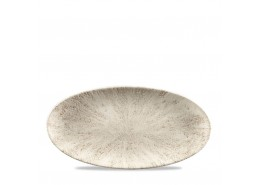 Stone Agate Grey Chefs' Oval Plate