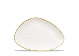 Stonecast Barley White Chefs' Triangle Plate