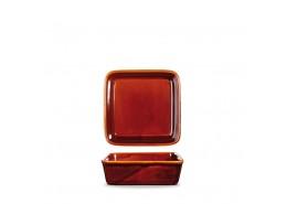 Rustics Simmer Brown Square Deli Dish